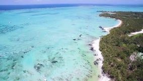 Aerial View: Ile aux Cerfs (Leisure Island) stock video footage
