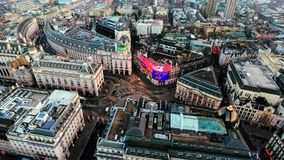 Aerial View Image of Iconic Landmark Piccadilly Circus in London City Center Stock Image