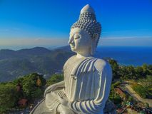 Free Aerial View In The Morning At Phuket Big Buddha In Blue Background Stock Photo - 105680090