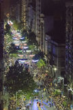 Aerial View Inagural Parade of Carnival in Montevideo Uruguay Stock Photo