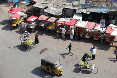 Aerial view Indian Street Market Stock Photography