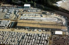 Aerial View-Industrial Stock Images