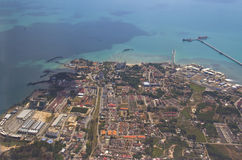 Aerial view of industrial area Royalty Free Stock Photo