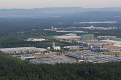 Aerial view of an Industrial Park area Royalty Free Stock Image
