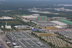 Aerial view of an Industrial Park area Stock Photography