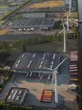 Aerial view of industrial park in Belgium stock photo