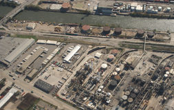 Aerial view of industrial site Royalty Free Stock Image