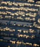 Aerial View : Industrial wood storage. Aerial View : Industrial wood planks storage Stock Image