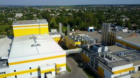 Industrial Area in Europe stock footage
