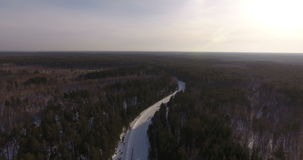 Aerial view. Inspiring natural landscape: the wild nature of Siberia. stock footage