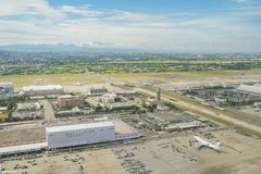 Aerial view of the Interior view of the Taiwan Taoyuan Internati. Taoyuan, JUN 6: Aerial view of the Interior view of the Taiwan Taoyuan International Airport on Stock Photography
