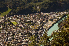 Aerial view of Interlaken Royalty Free Stock Image