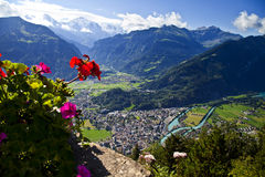 Aerial view of Interlaken Royalty Free Stock Photo