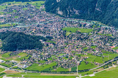 Aerial view of Interlaken, Switzerland Stock Photography
