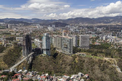Aerial view of interlomas in mexico city Royalty Free Stock Images