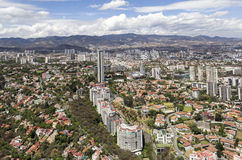 Aerial view of interlomas in mexico city Royalty Free Stock Image