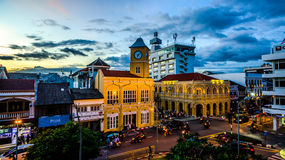 Aerial view intersection in Phuket town Stock Images