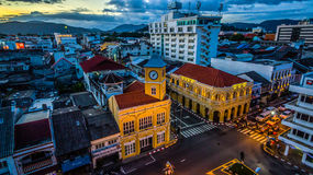 Aerial view intersection in Phuket town Royalty Free Stock Image