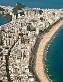 Aerial View of Ipanema and Leblon Beach Stock Photography
