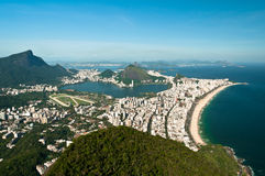 Aerial View of Ipanema and Leblon Beach Stock Photo