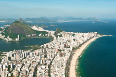 Aerial View of Ipanema and Leblon Beach Stock Photos