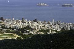 Aerial view of Ipanema in Rio De Janeiro Royalty Free Stock Photo