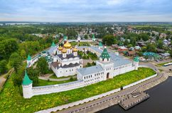 Aerial view of Ipatiev Monastery in Kostroma Stock Photography