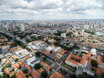 Aerial view of Ipiranga neighborhood Royalty Free Stock Images