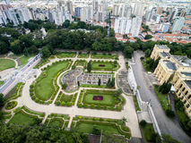 Aerial view of Ipiranga in Sao Paulo, Brazil Royalty Free Stock Image
