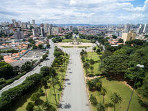 Aerial view of Ipiranga in Sao Paulo, Brazil Stock Images