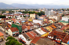 Aerial view of Ipoh Town. Ipoh is the capital city of Perak state, Malaysia. It is approximately 200 km (125 miles) north of Kuala Lumpur on the North-South Stock Image