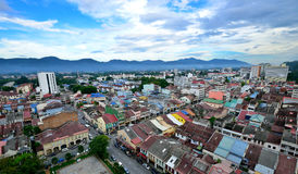 Aerial view of Ipoh Town. Ipoh is the capital city of Perak state, Malaysia and also one of the largest cities in the country. It is approximately 200 km (125 Royalty Free Stock Image