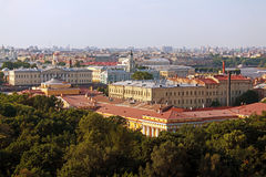Aerial View from Isaac Cathedral, Saint Petersburg Royalty Free Stock Photos