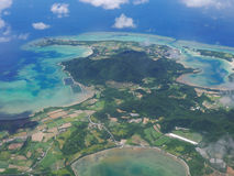 Aerial view of Ishigaki Island. (neighbor of Kabira Bay) in Okinawa, Japan Stock Image