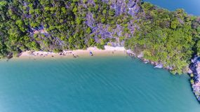 Aerial view of island royalty free stock photo