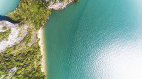 Aerial view of island royalty free stock images