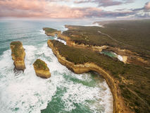 Aerial view of the Island Arch and Mutton Bird Island Stock Photos