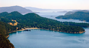 Aerial view of an island archipelago. stock image