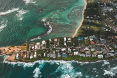 Aerial View of Island during Daylight Royalty Free Stock Image