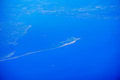 Aerial view of New Jersey island Royalty Free Stock Photos