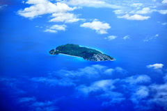 Aerial view of the Island Nord. Aerial view of the Island Nord, Indian Ocean, Republic of Seychelles Royalty Free Stock Photography