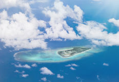 Aerial view of an island of Okinawan archipelago in Japan. Stock Photos