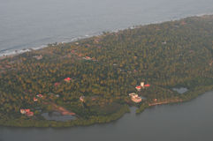 Aerial view of island. Aerial view of the Sri Lanka island Stock Photos