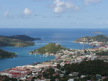 Aerial view of the island of St Thomas Stock Photo