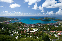 Aerial view of the island of St Thomas, USVI. Stock Photography