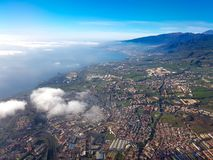 Aerial view of the island of Tenerife, Canary Islands, Spain stock photography