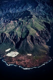 Aerial view of the Island Tenerife. Royalty Free Stock Images