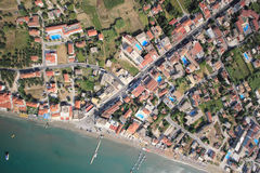 Aerial view on the island of Zakynthos Stock Photo