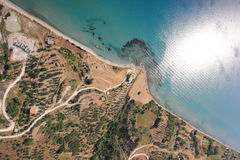 Aerial view on the island of Zakynthos Royalty Free Stock Images