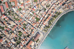 Aerial view on the island of Zakynthos Royalty Free Stock Photos